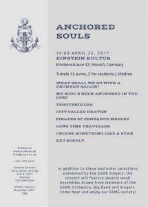 Anchored Souls Flyer